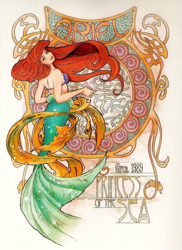 Art Nouveau Disney Princesses - Likes