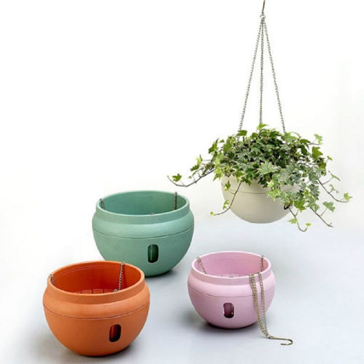 Hanging Flower Pot Chain Resin Planter Basket Garden Flexible Home Decoration-in Hanging Baskets from Home & Garden on Aliexpress.com | Alibaba Group