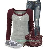 Casual Outfits | Plum and Grey | Fashionista Trends