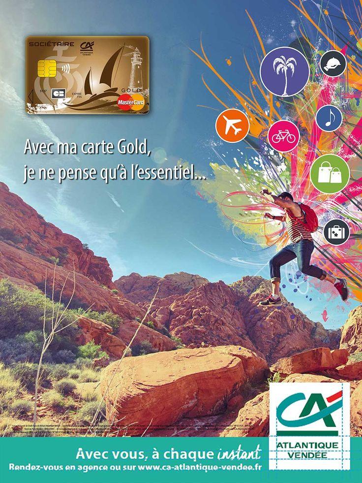 Proposition affiche graphique Carte Gold Crédit Agricole Atlantique Vendée