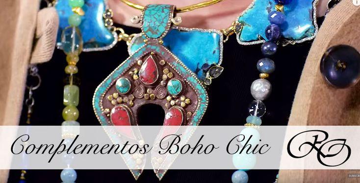 Aprende a combinar la tendencia de esta temporada, los accesorios Boho Chic, grandes pendientes, collares metálicos y cinturones estilo Folk.