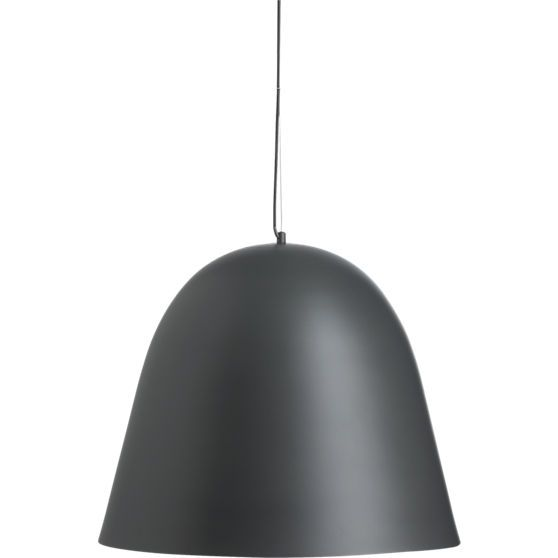 Capitol large black bell pendant light