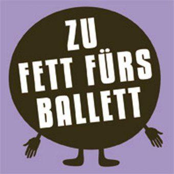 """#design3000 Magnet """"Zu Fett Fürs Ballett"""". Eine wirksame Waffe gegen böse Kalorien – und ein lustiges Geschenk für alle Diätgefrusteten und Schokoholics mit Humor!"""