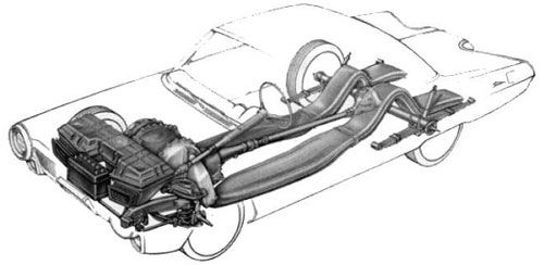 chrysler turbine car jet engine gas concept cutaway