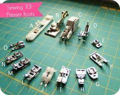 Conoce un poco más sobre tu máquina de coser analizando los diferentes prensatelas.                                                                                                                                                                                 Más