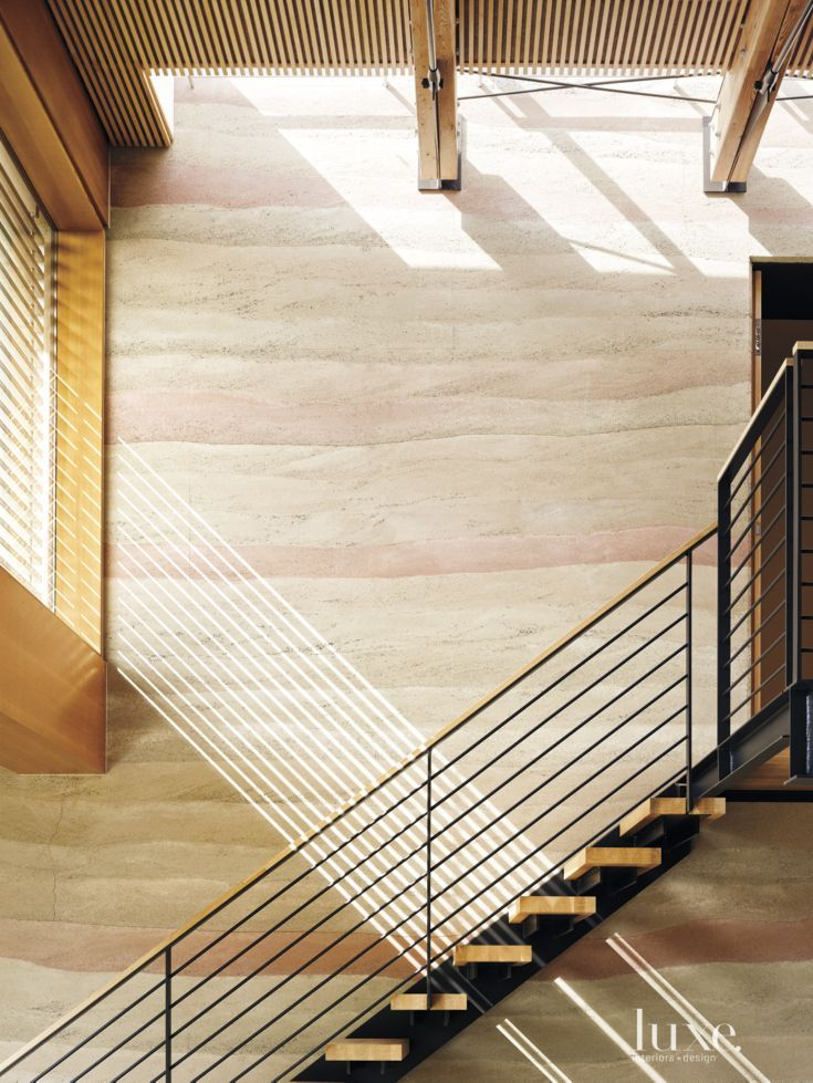 Modern Neutral Staircase with Floating Treads