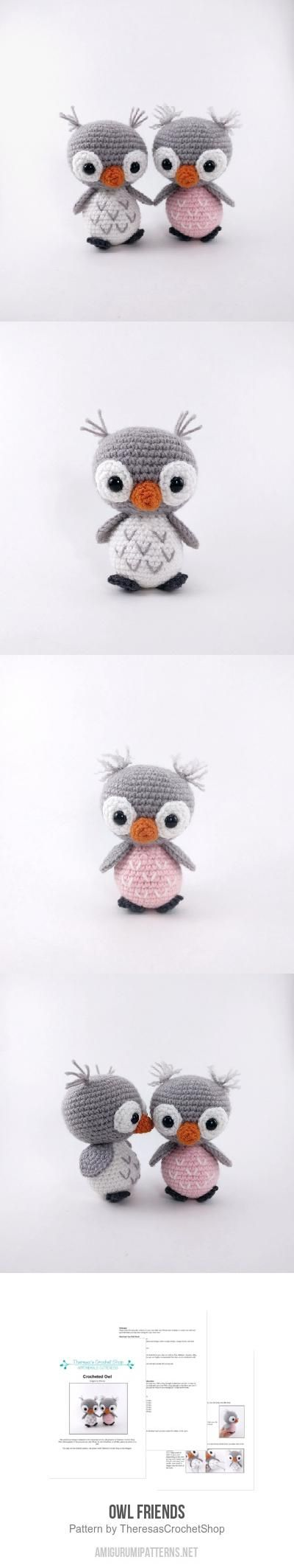 Owl Friends amigurumi pattern