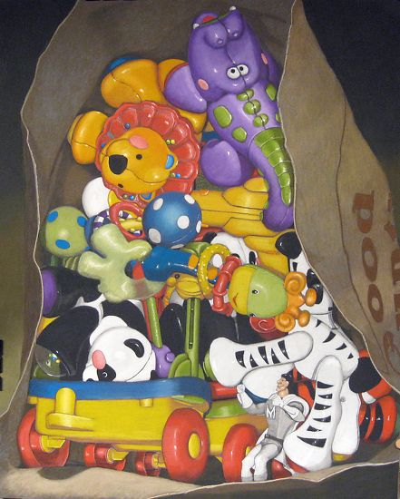 """In The Bag by David Francis Pastel 24"""" x 18"""""""