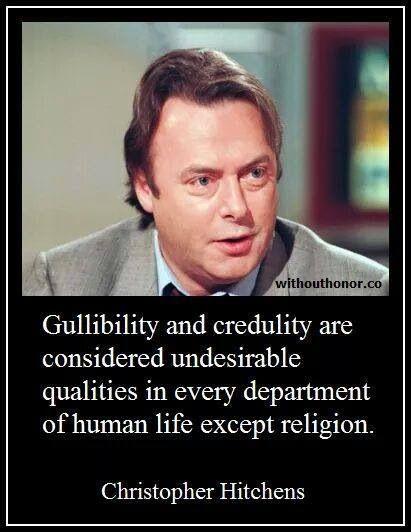 Atheist Hitchens quote