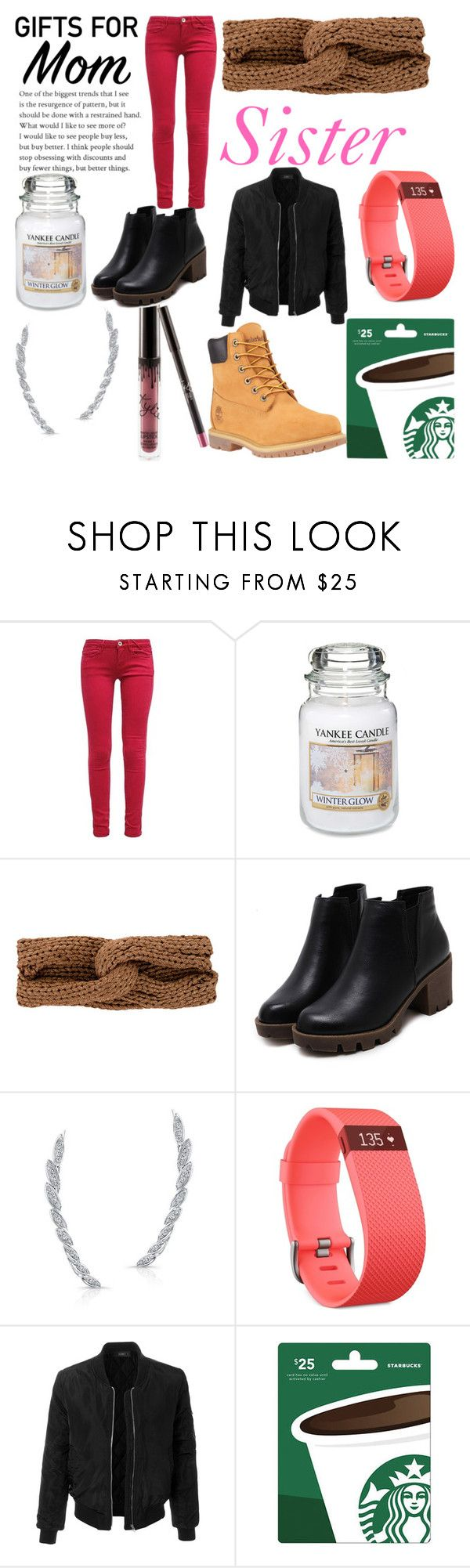 """""""Christmas Gift Ideas Contest"""" by erica-slay ❤ liked on Polyvore featuring Yankee Candle, rag & bone, Fitbit, LE3NO and Timberland"""