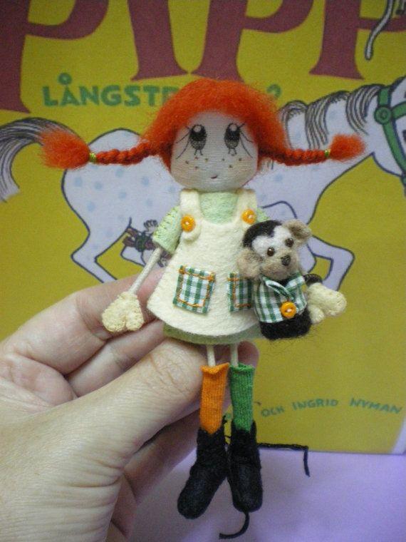 Pippi Långstrump a cute handmade doll by SusinasDream,