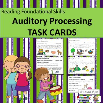 Check out these Auditory Processing Task Cards for more great activities!