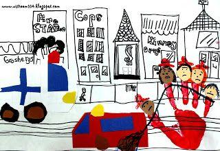 Art Room 104: Community Helpers Cityscape