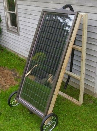 Build Your Own Soda Can Solar Heater. Perfect for heating a Greenhouse or a small garage - Gardening world