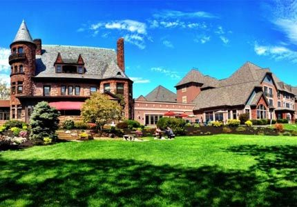 Belhurst Castle in Geneva, New York : one of Gayot's Top Ten Wine Country Hotels in America