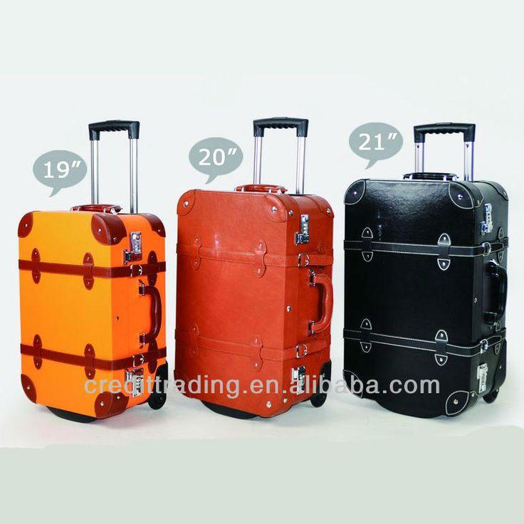 #retro trolley luggage set, #personalized luggage sets, #unique luggage sets