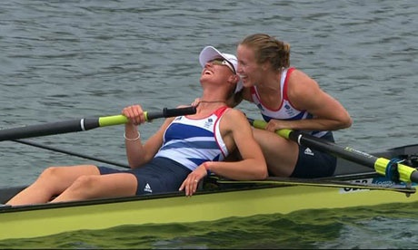 London 2012: rowers Glover and Stanning win Team GB's first gold medal