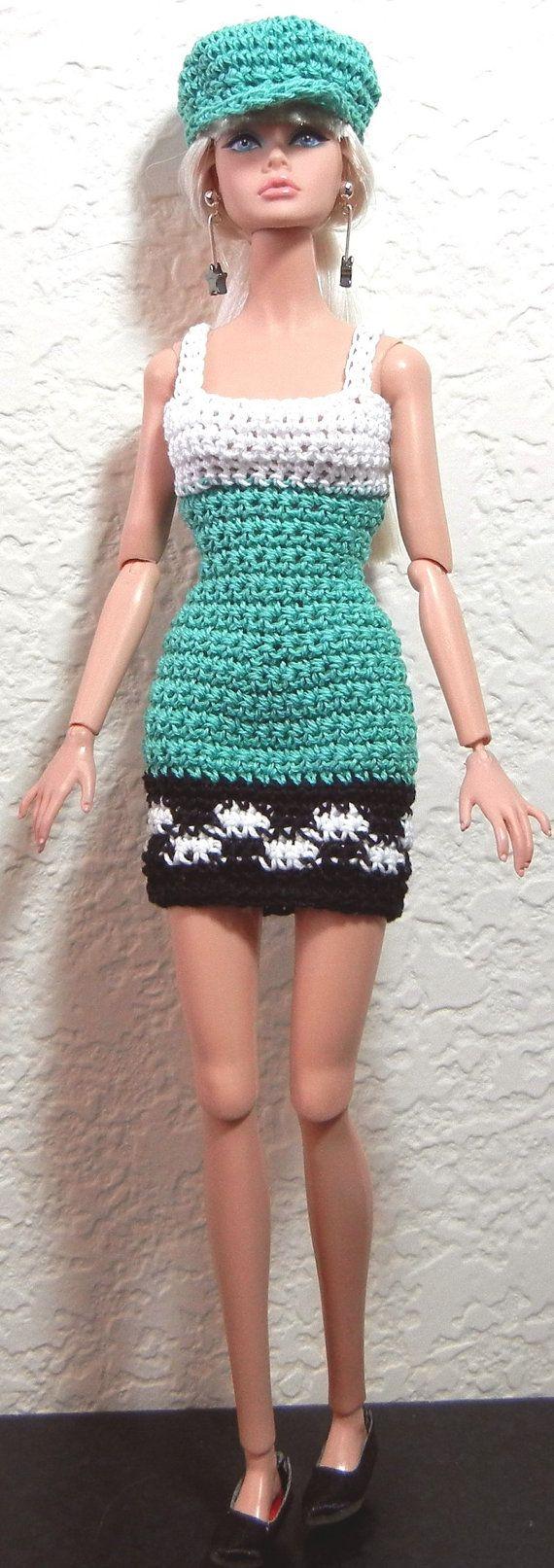 Crochet pattern PDF for Silkstone Barbie Poppy Parker doll