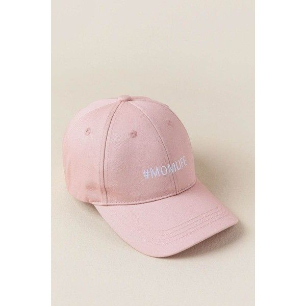 #momlife Baseball Cap - Blush ($24) ❤ liked on Polyvore featuring accessories, hats, blush, white baseball cap, embroidered baseball hats, embroidery hats, embroidered ball caps and white baseball hat