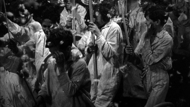 'A famous scene from Jean Vigo's groundbreaking ZÉRO DE CONDUITE.' https://www.youtube.com/watch?v=Ke3PQVK87mc   - full film: https://www.youtube.com/watch?v=YUkW1LBuQcg