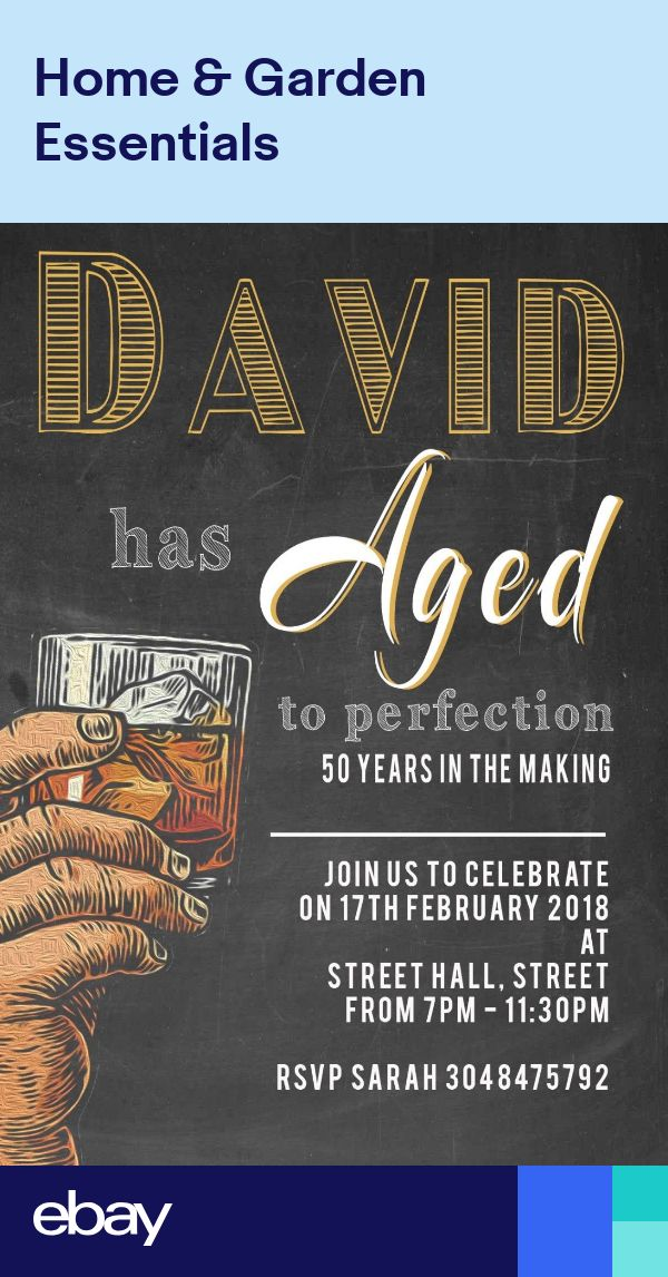 Personalised Birthday Party Invitations Mens Aged to perfection x 12+envs H1729