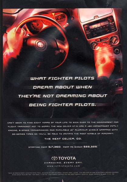 What fighter pilots dream about.. http://www.erniepalmertoyota.com/