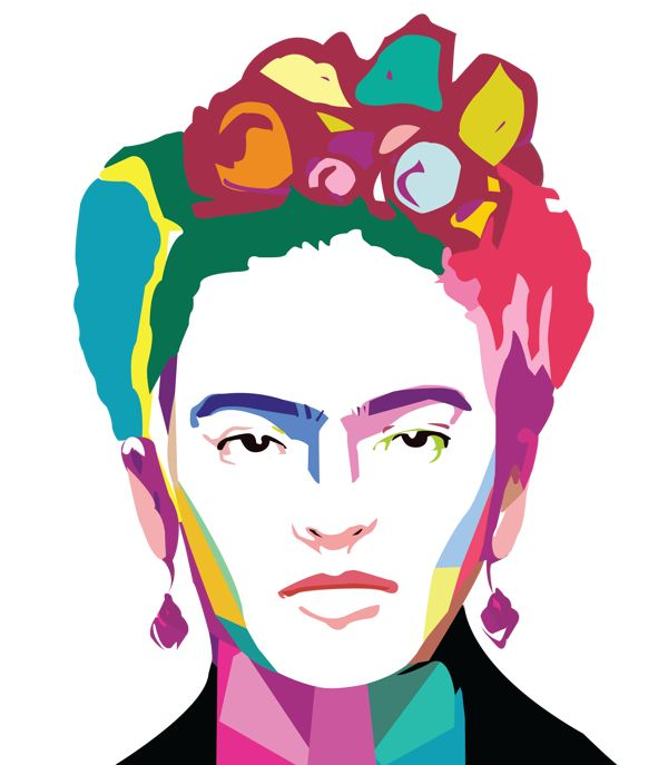 Frida Kahlo Pop art by Arrioja, via Behance