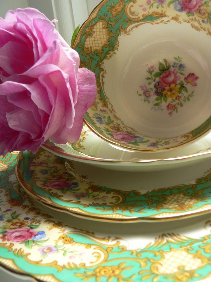 Vintage Crockery Hire. Weddings // Teaparties // Christenings. See www.thevintagecrockerycupboard.co.uk for further information.