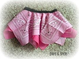 Tutorial: Handkerchief or bandana skirt for little girls · Sewing | CraftGossip.com