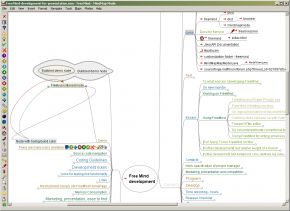 Freemind is a free, GNU General Public Licensed mind mapping app built in Java, so it runs on just about anything you throw it at. It was the winner of our last poll, partially because of its flexibility, and because its features and performance are pretty consistent regardless of the operating system you use with it. It's a pretty powerful mind mapping tool too, offering complex diagrams and tons of branches, graphics and icons to differentiate notes