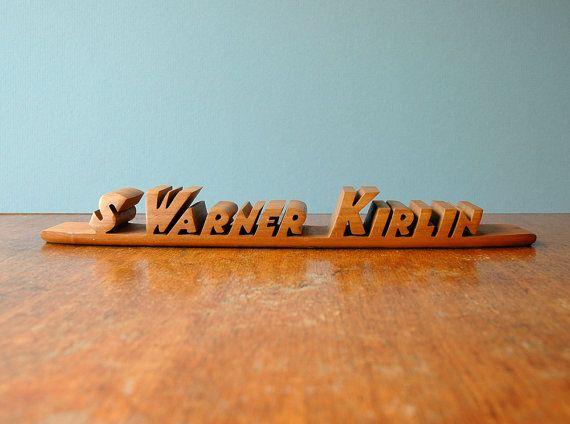 Carved Wooden Name Plates For Desk