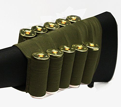 Hunting- OD Green 10 Round Shotgun Ammo Shot Shell Cartridge Hunting Stock Buttstock Slip Over Carrier Holder Fits 12 / 20 GA Gauge Ambidextrous Mossberg 500/590/1035/Maverick 1010 *** Learn more by visiting the image link.