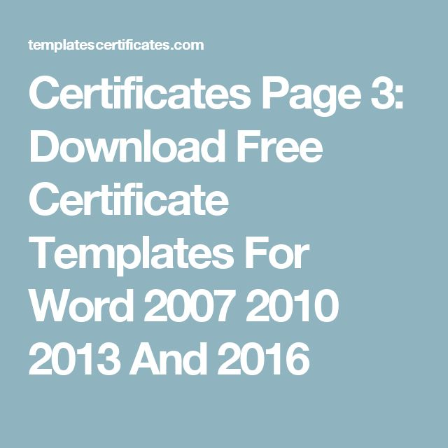 Best 25+ Certificate templates for word ideas on Pinterest - free certificate templates word