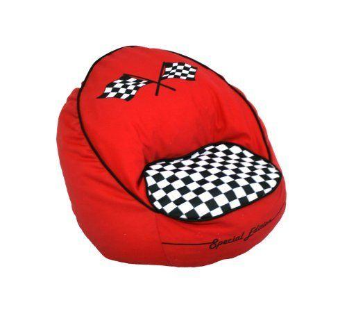 Newco Kids Race Car Bean Chair Red By B007HVKSAC