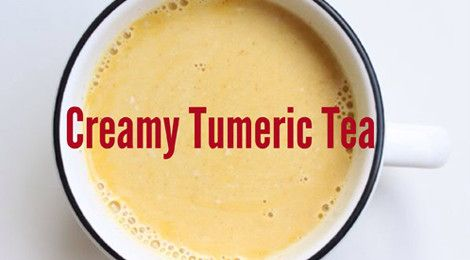 Creamy Tumeric Tea made with almond milk, spices, and honey.