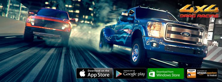 Drag Racing: 4×4 features awesome burnouts and countless upgrades all on your mobile device! #4x4 #dr4x4 #dragtruck #trucks #suv #monstertruck #tractortrailer #18wheeler #racinggame #android #ios #windowsphone