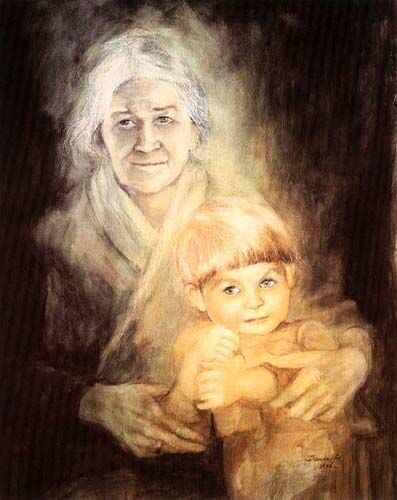Great-grandmother, 1988 Danuta Muszynska Zamorska
