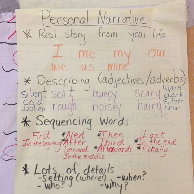 best personal narratives realistic fiction images on personal narrative writing this is closer and has the sequential words