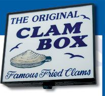 The Clam Box, Wollaston Beach, Massachusetts -- Oh yes, those fried Ipswich clams!!