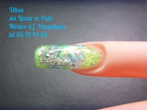 uñas escultural de pecera tutorial - YouTube