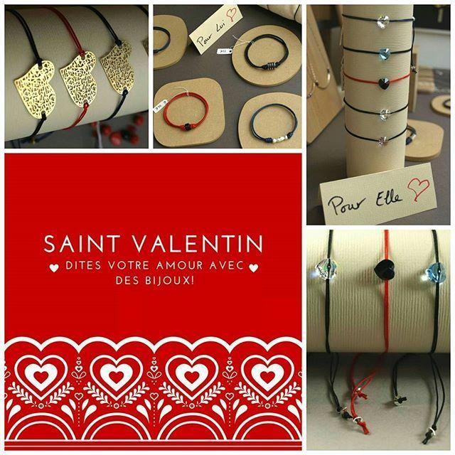 SAINT VALENTIN - La date approche <3  Pensez à dire votre amour avec un bijou personnalisé ou un bijou de créateurs! #lecomptoiraperles #saintvalentin #amour #love #valentine #valentin #perles #coeurs #heart #handmade #handmadejewelry #cristal #cuivre #cordon #bijouxhommes #bijouxfemmes #beads #faitmain #bijouxdecreateurs #bracelet #rouge #red #creativity #créativité #bijoux #jewelslovers #instajewels