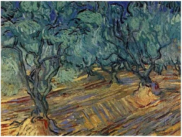 Olive Grove: Bright Blue Sky Vincent van Gogh Painting, Oil on Canvas Saint-Rémy: June, 1889 Van Gogh Museum Amsterdam, The Netherlands, Europe F: ;709, ;JH: ;1760