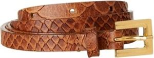 FRENCH CONNECTION CUTE CROC SKINNY SMALL BELT - FOR WOMEN (TAN) BY SHOPIT4ME.COM