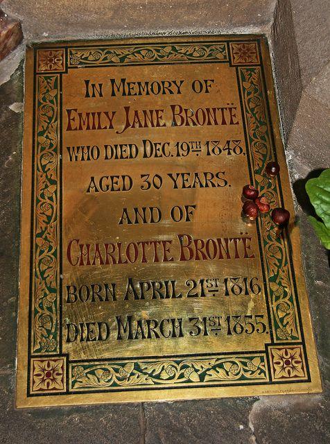 Emily Jane Brontë (30 July 1818 - 19 December 1848) and Charlotte Brontë (21 April 1816 - 31 March 1855) - Memorial Haworth Church,  West Yorkshire, England