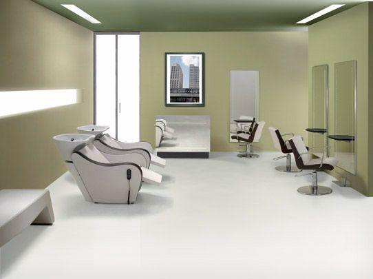 Ambiance shuttle pour salon de coiffure design et glamour mobilier agv group coiffure - Ambiance peinture salon ...