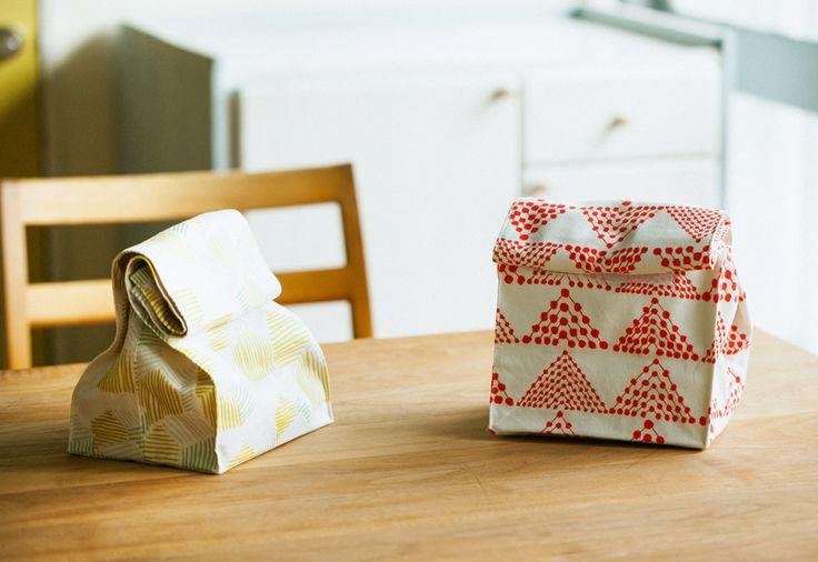 お弁当袋(ランチバッグタイプ)の作り方と裁断図を無料でダウンロードできます。スタイリング画像と最適な布を紹介します。