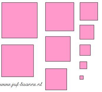 www.juf-lisanne.nl Montessori roze toren losse blokken om zelf een bouwvoorbeeld mee te maken / Montessori pink tower extension sheet with loose blocks to create your own building plan