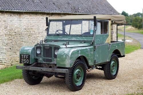 """Land Rover Series 1 80"""" 1948. We love to search for originals for inspiration for our custom made vehicles! #inspiration #Defender #original"""