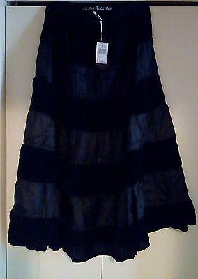 Soho babe style AS-595 Black Velvet Poly Maxi Skirt SZ. XL. NWT