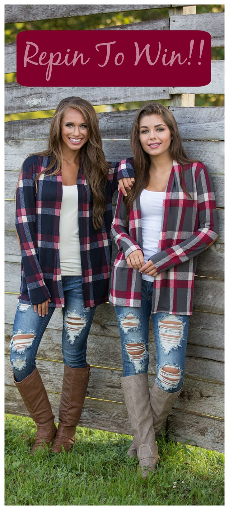 ***CONTEST TIME***  Repin This Post for the chance to be entered in our giveaway. 1 lucky person will win our Find A New Trail Cardigan (color of their choice)! Must be following The Pink Lily Boutique on Pinterest to win. Winner will be chosen Wednesday, September 21st!!
